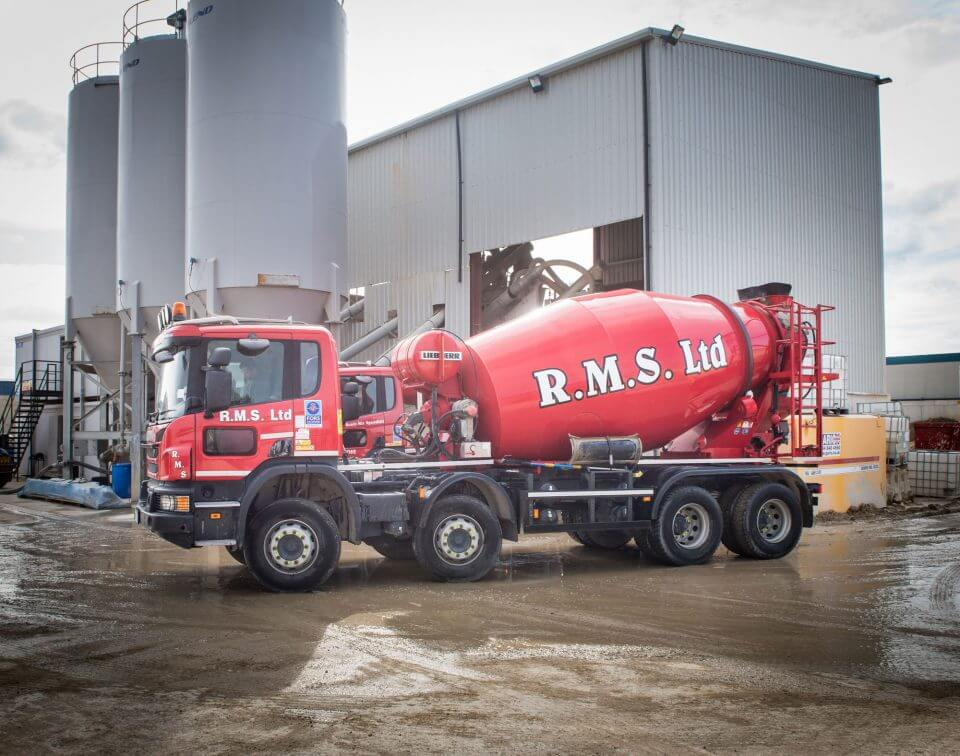 Ready Mix Concrete supplying fleet