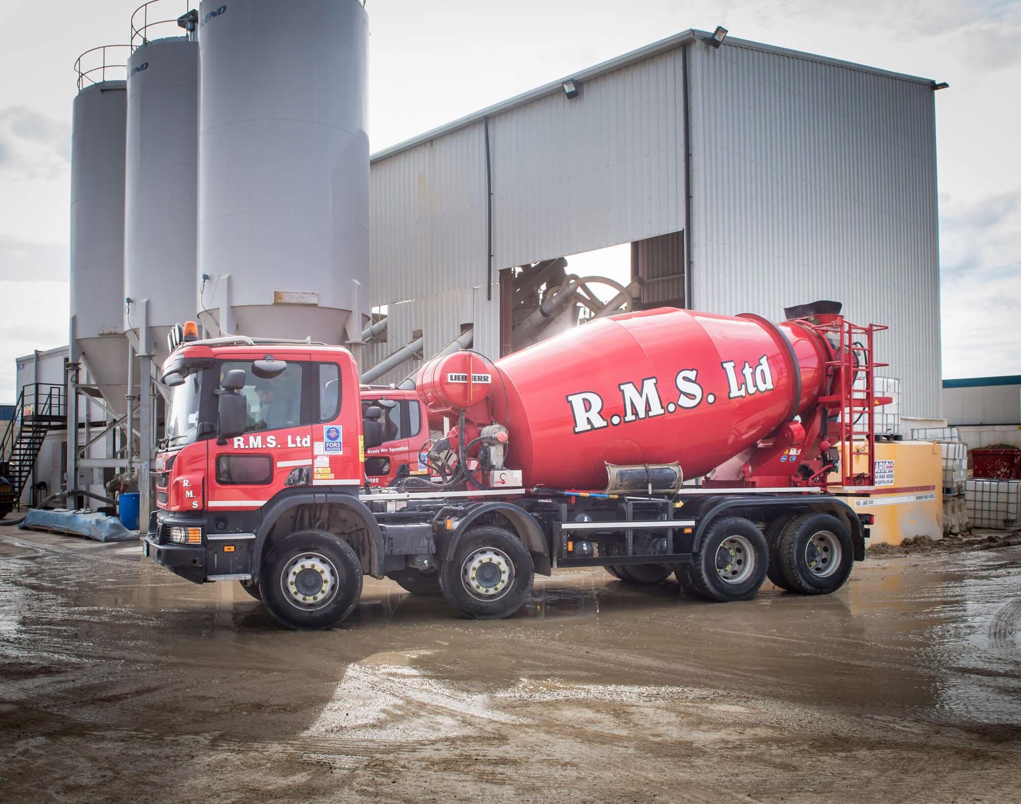 Ready Mix Concrete supplying fleet