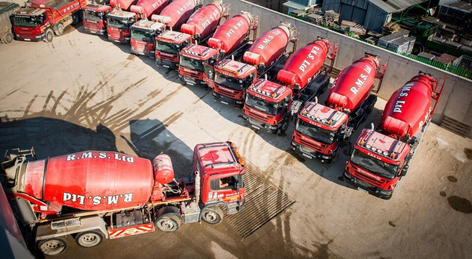 Ready Mix Specialist Delivery Truck at Concrete Screed Plant