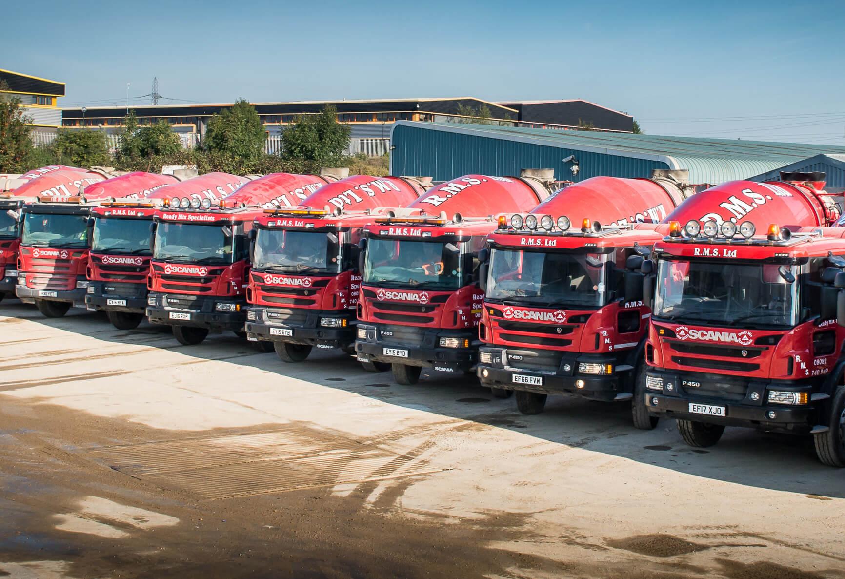 Ready Mix Concrete Delivery Fleet