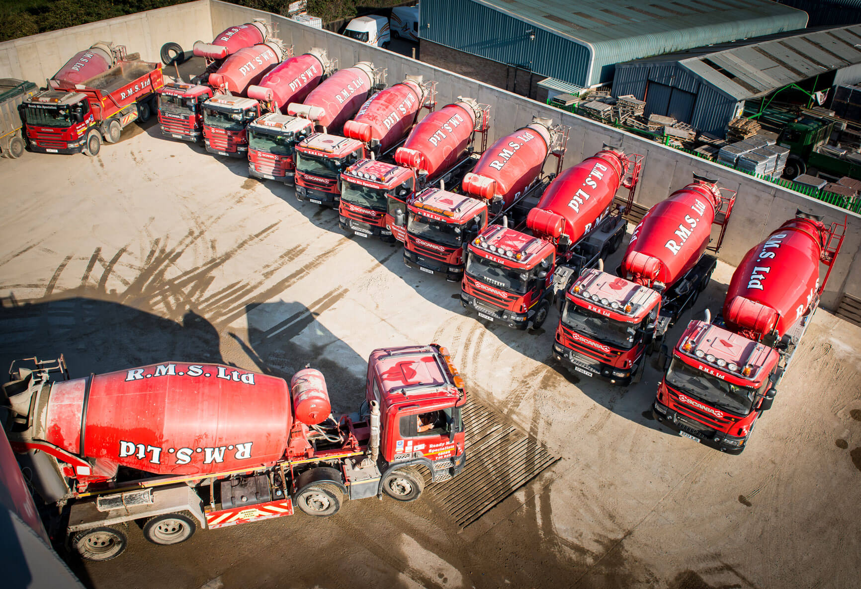 Ready Mix Specialist Plant Bird's Eye View